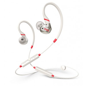 Наушники TCL In-ear Bluetooth Sport Headset, IPX4, Frequency of response: 10-22K, Sensitivity: 100 dB, Driver Size: 8.6mm, Impedence: 16 Ohm, Acoustic system: closed, Max power input: 20mW, Bluetooth (BT 5.0) & 3.5mm jack, Color Crimson White