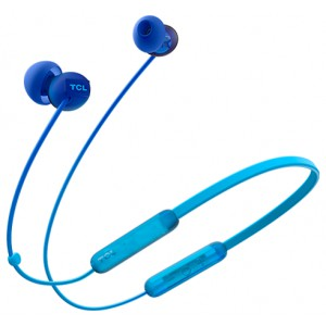 Наушники TCL Neckband (in-ear) Bluetooth Headset, Frequency of response: 10-23K, Sensitivity: 104 dB, Driver Size: 8.6mm, Impedence: 28 Ohm, Acoustic system: closed, Max power input: 25mW, Connectivity type: Bluetooth only (BT 5.0), Color Ocean Blue