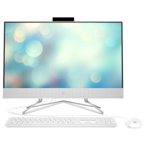 Моноблок HP 24-df0019ur NT 23.8'' FHD(1920x1080) AMD Ryzen3 3250U, 4GB DDR4 2400 (1x4GB), SSD 128Gb, AMD Integrated Graphics, noDVD, kbd&mouse wired, HD Webcam,Snow White, FreeDos, 1Y Wty