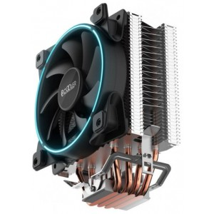 Кулер PCCooler GI-X4B S775/115X/AM2/AM3/AM4 (24 шт/кор, TDP 145W, 120mm PWM SilentPro Blue LED FAN, 4 тепловые трубки 6мм, 1000-1800RPM, 26.5dBa)