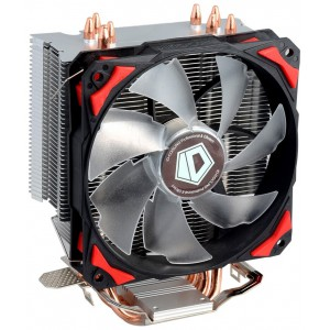 вентилятор Cooler ID-Cooling SE-214 130W/PWM/ Red LED/ Intel 775,115*/AMD