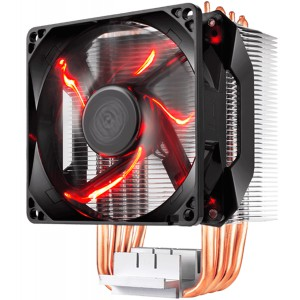 Кулер Cooler Master Hyper H410R, 600-2000 RPM, 100W, 4-pin, Red LED fan, Full Socket Support